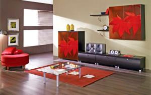 дизайн стенки в  гостиной