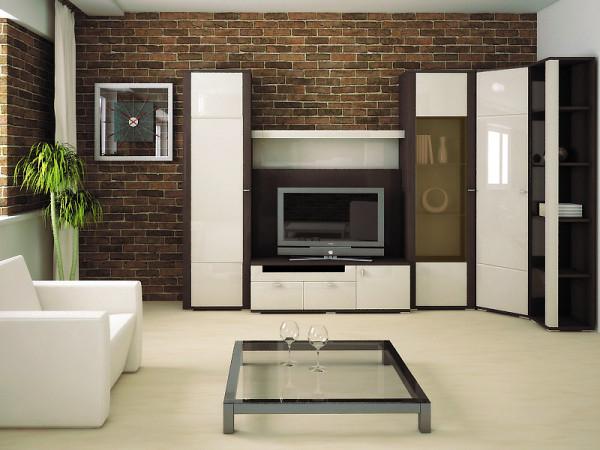 дизайн стенки для гостиной