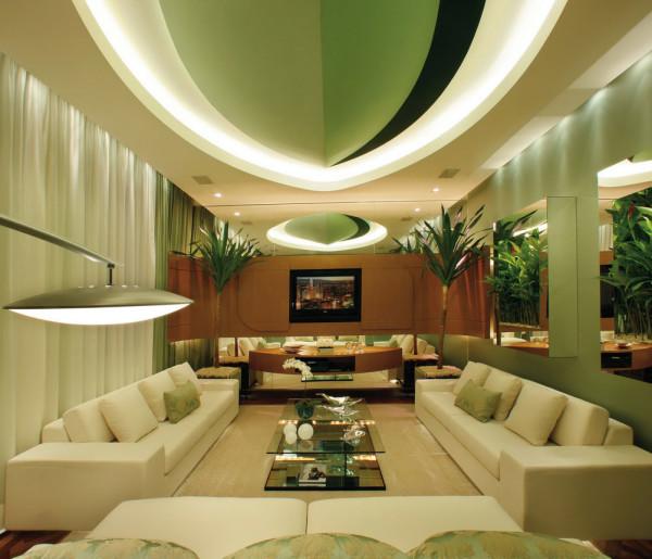 интерьер гостиной фисташкового цвета