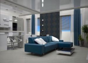 Гостиная-кухня в квартире-студии — особенности