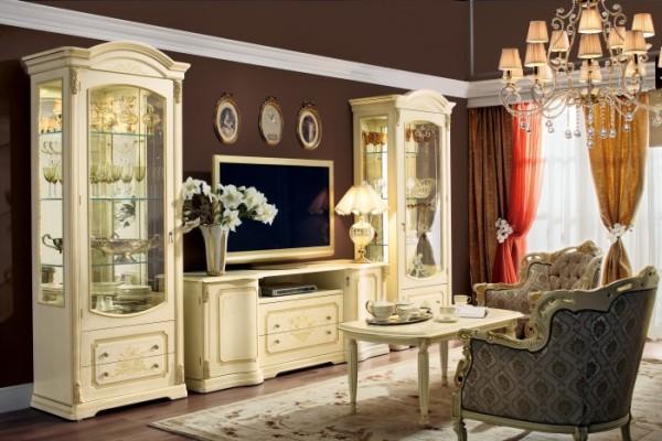 мебель светлых тонов для гостиной