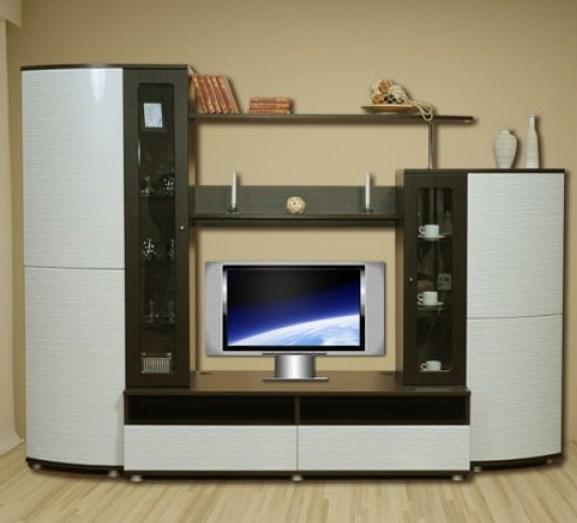 глянцевая мебель в интерьере гостиной