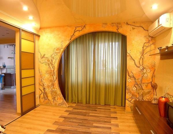 гипсокартонные стены в интерьере