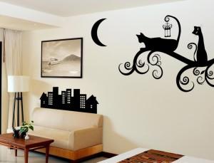 декоративные наклейки на стену