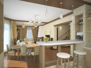Как зонировать кухню-гостиную