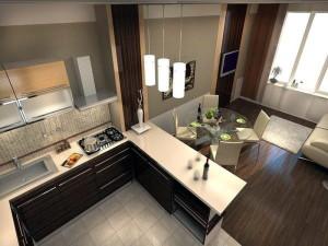 идеи зонировать гостиную-кухню