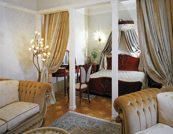 объединение гостиной и спальни