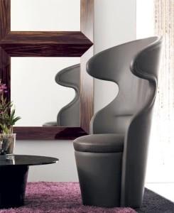 современное кресло в гостиной