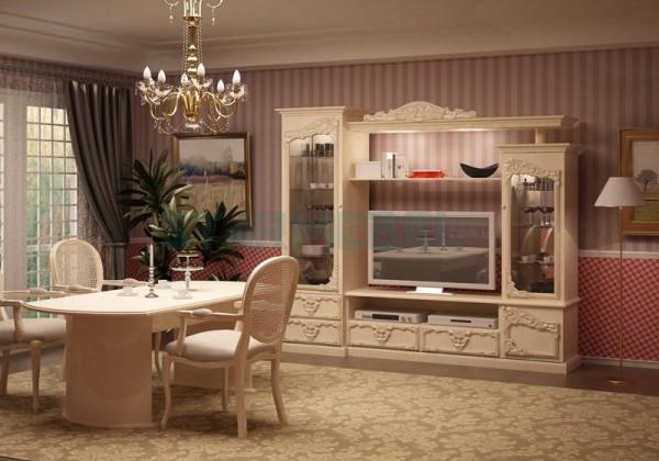 классическая горка в интерьере гостиной