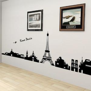 Декоративные наклейки на стены в гостиной