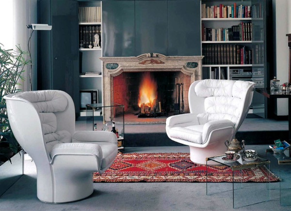 современные кресла в интерьере гостиной