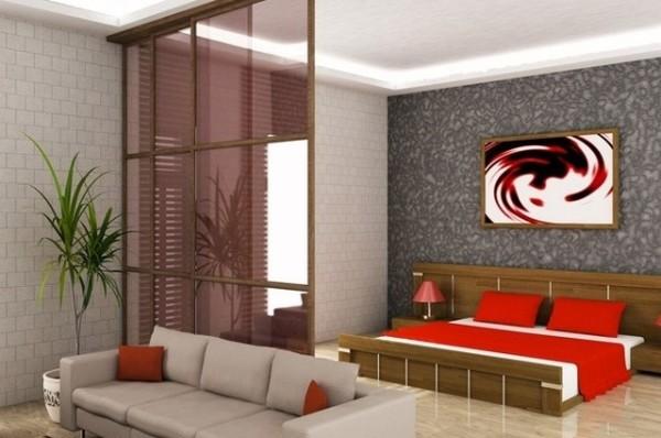 идеи зонирования гостиной-спальни