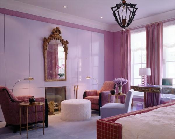 гостиная в розовом цвете