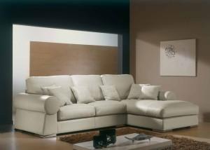 белый кожаный диван для гостиной