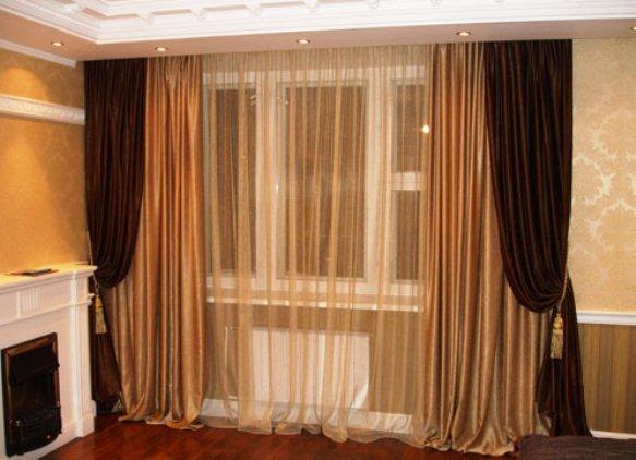 ночные шторы в гостиной