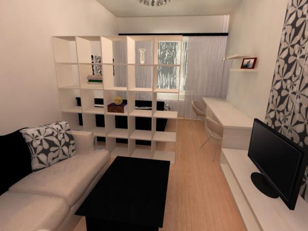 интерьер гостиной-спальни в хрущевке