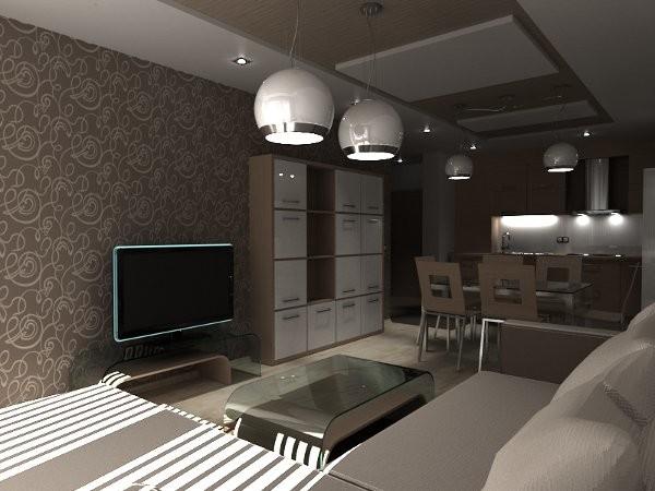 кухня-гостиная 14 кв. м