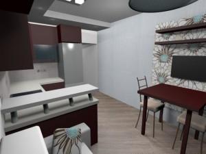 дизайн гостиной-кухни 12 кв м