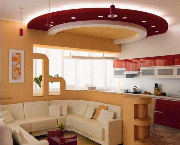 интерьер гостиной-кухни 14 кв м