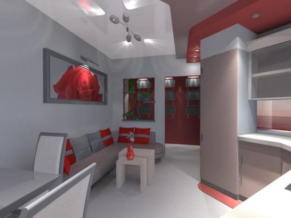 гостиная-кухня 13 кв м