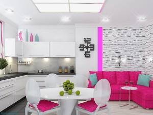 оформление гостиной-кухни 14 кв м