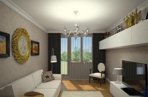 дизайн гостиной 19 метров