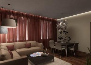 дизайн гостиной 25 кв м