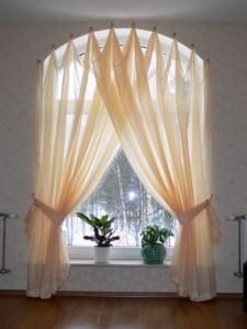 нестандартные шторы для гостиной