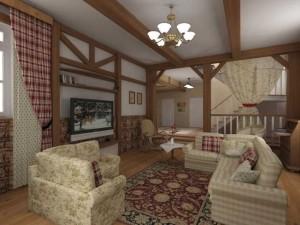 оформление гостиной в частном доме