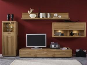 Мебель из шпона в интерьере гостиной комнаты