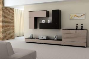 настенная мебель в гостиной