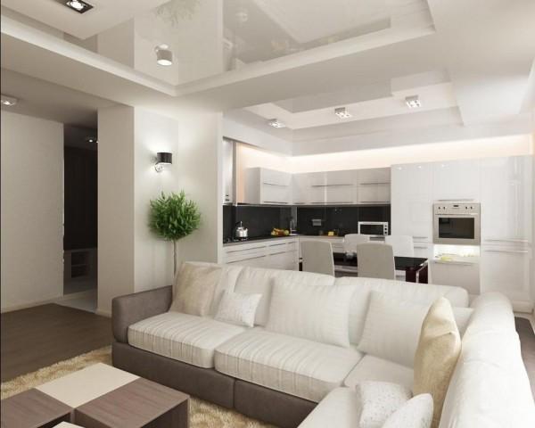 кухня-гостиная 14 квадратов
