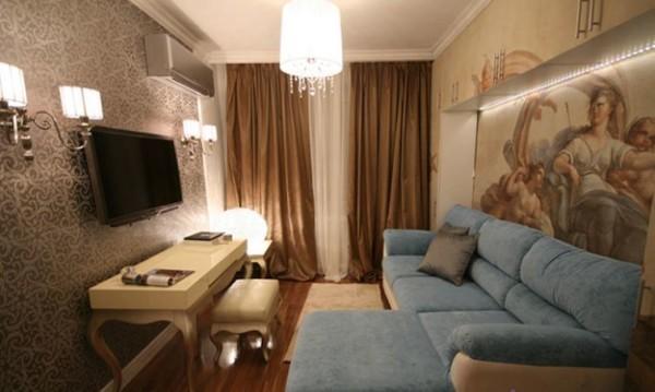 интерьер гостиной 19 кв метров