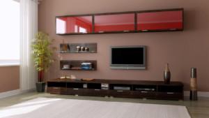 навесная мебель в гостиной