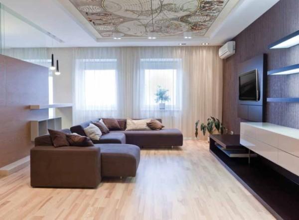 гостиная 25 кв метров