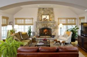 дизайн гостиной в частном доме