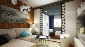 интерьер спальни-гостиной 20 кв м