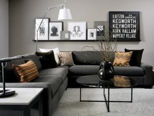 черная мебель для гостиной