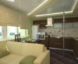 дизайн кухни-гостиной 18 метров