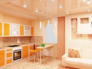 Дизайн кухни-гостиной 17 метров