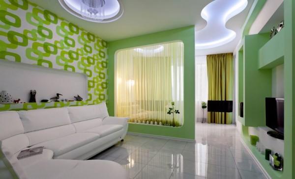 дизайн гостиной-спальни 20 кв м