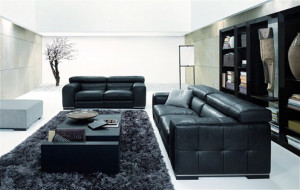черный диван