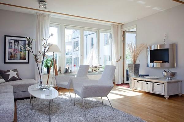 скандинавский стиль в оформлении гостиной