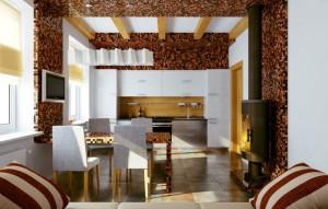 Мозаика в интерьере комнаты для гостей