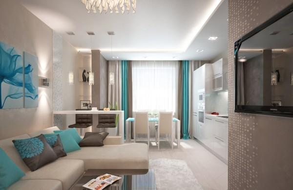 дизайн кухни-гостиной 15 кв метров