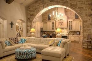 арка в гостиной