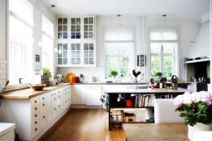 скандинавский стиль в оформлении кухни-гостиной