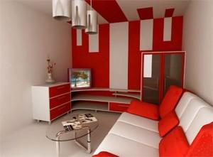 мебель в узкой гостиной