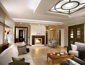 мебель в интерьере проходной гостиной