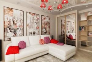 Тонкости дизайна интерьера квадратной гостиной